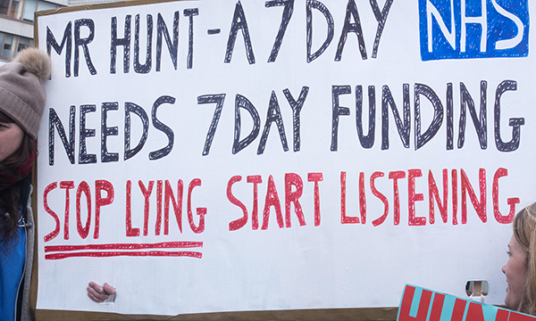 7-Day NHS protest