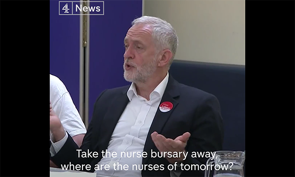 Corbyn on 4 News