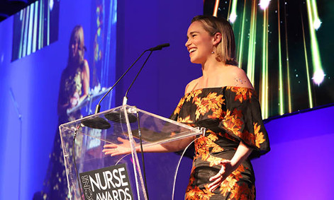 RCNi Nurse Awards guest speaker, Emilia Clarke