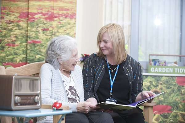 Geraldine Rodgers with a patient.  Picture credit: Nathan Clarke