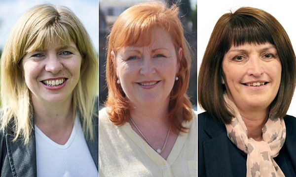 From left, Maria Caulfield, Emma Harper and Karen Lee. All three politicians are returning to nursing to help during the coronavirus pandemic