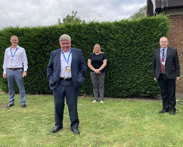 Picture shows Ron Weddle, positive and safe care team deputy director at  Cumbria, Northumberland, Tyne and Wear NHS Foundation Trust, with team members Paul Sams, Kelly Huspith and Rod Bowles