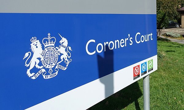 Image showing a coroner's court sign