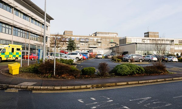 All healthcare staff will get free parking in Northern Ireland hospitals, such as Dundonald's Ulster Hospital in County Down