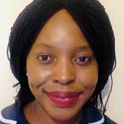 Picture of ward manager Noni Nyathi, who inspired a new range of caps for black, Asian and minority ethnic (BAME) staff