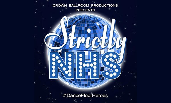 Strictly NHS charity logo with glitterball