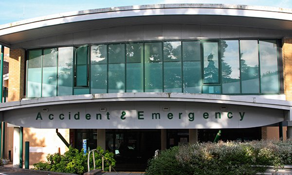 The emergency department at Princess Alexandra Hospital in Harlow, where Barclay Mason had worked for 20 years