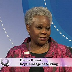Professor Kinnair on BBC One's Question Time