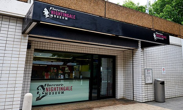 Picture shows the entrance of the Florence Nightingale Museum in London
