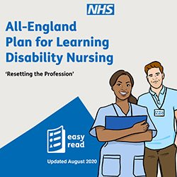 The cover of the All-England Plan for Learning Disability Nursing
