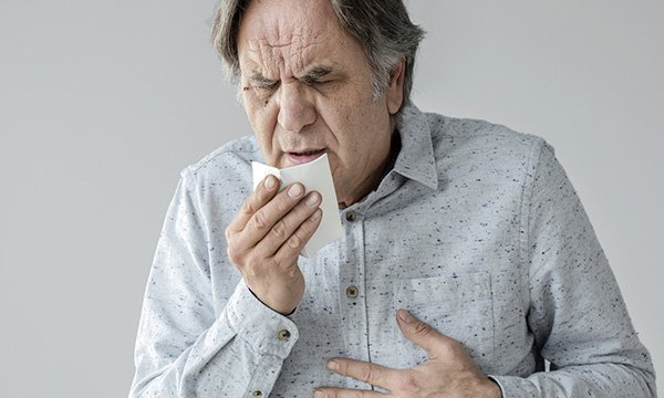 Coughing is a symptom of COVID-19 and lung cancer