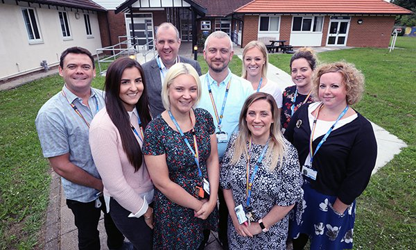 2018 award-winners Rebekah_Bewsey (front, second from right) and Brookside Adolescent Inpatient and Young People's Home treatment team
