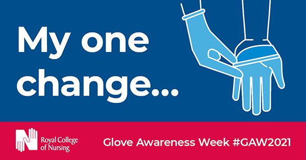 A logo for the RCN's My one change message as part of its glove awareness week