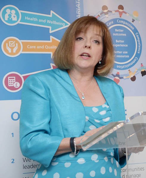 Chief nursing officer for England Jane Cummings at the framework launch. Picture credit: Grant Humphreys