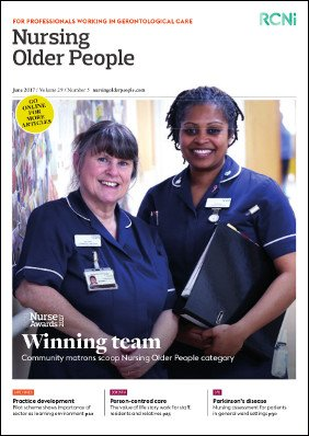 Read a sample edition of Nursing Older People, May 2017