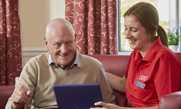 Technology in a care home environment