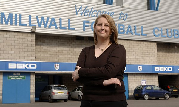Nursing professor Alison Leary at Millwall FC, where she is clinical lead with the match-day medical service and has won recognition for her work in improving stadium safety – in contrast with her efforts to raise concerns about nurse workforce safety