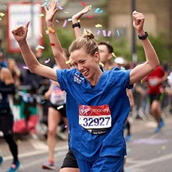 Barts Health NHS Trust senior sister Jessica Anderson wanted to attempt to be the quickest woman to run a marathon dressed as a nurse