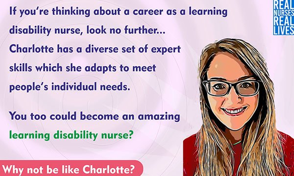 Picture of one of the postcards used to promote learning disability nursing