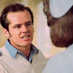 Picture shows the actor Jack Nicholson in a scene from One Flew Over the Cuckoo's Nest, a film that this article says was unhelpful in its depiction of psychiatry being used to modify, control and eliminate undesirable behaviours.