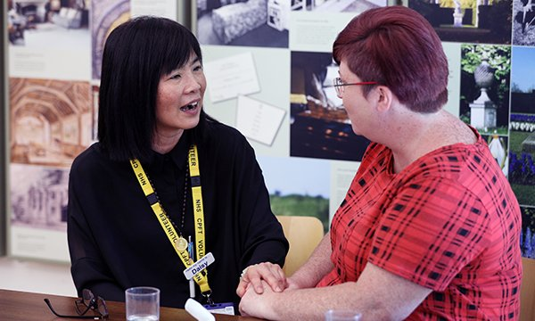 Dementia Carers' Support Service volunteer Daisy Meakin (left) with Loretta Peck