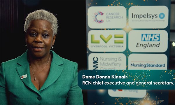 Picture shows RCN general secretary Dame Donna Kinnair introducing the RCNi Nurse Awards 2020