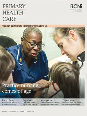 A past cover of Primary Health Care, which is marking its 30th anniversary.