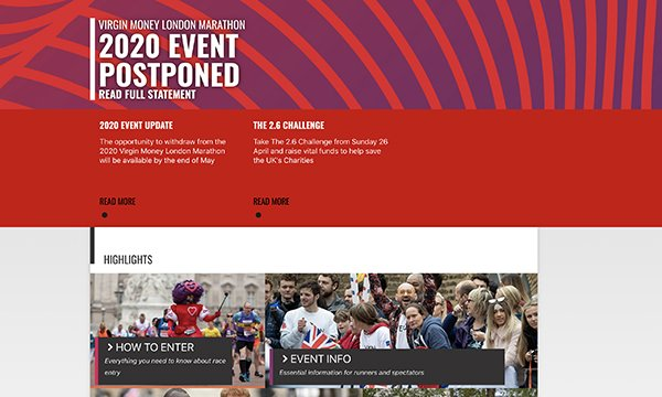 Fundraising events that charities rely on, such as the London Marathon, have been postponed