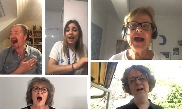 Nurses in the 'I am a nurse' video sing the song from their homes and gardens during lockdown