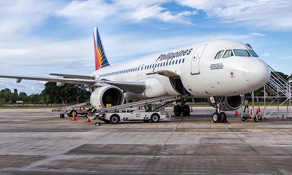 Picture shows Philippines Airways aeroplane. International recruitment plans include funding flights for overseas nurses
