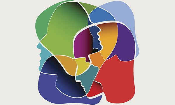 Picture is abstract multicoloured illustration showing silhouettes of faces. By joining together, mental health nurses can be a powerful voice advocating for the profession and improving outcomes for individuals and communities, says Vicki Hines-Martin