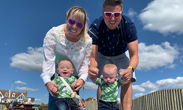 Picture shows Jennie and Rich Powell with their sons Ruben and Jenson, who were born preterm. New guidelines for nurses examine the stark decisions that arise when caring for extremely premature babies.