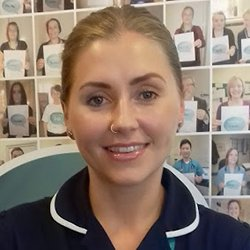 Picture of emergency nurse Louisa Bardsley, a member of a digital health team that uses a video link to triage older people in care and nursing homes, avoiding unnecessary admissions to the emergency department.