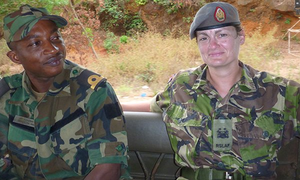 Picture of military advanced nurse practitioner Lynda Mathias, a clinical staff officer in the army with the rank of lieutenant colonel, who describes some of the challenges she has faced