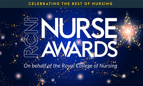Picture shows a logo promoting the RCNi Nurse Awards.