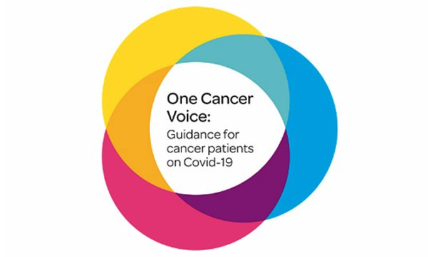 Vector image used by cancer charities in guidance on COVID-19
