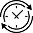 Routine icon, showing a clock face