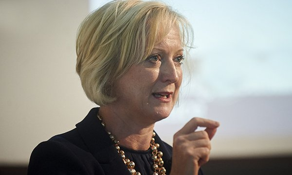 Picture of NHS England's chief nursing officer Ruth May, who says nurses will show leadership and set aside their own fears in response to the outbreak.