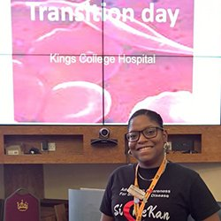 Specialist transition nurse Giselle Padmore-Payne at one of her study days