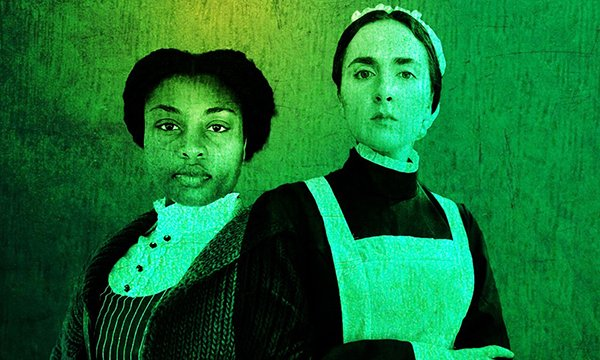 Picture of actresses Bisola Bello as Mary Seacole and Victoria Winter as Florence Nightingale
