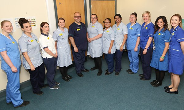 Participants in a fellowship programme at Gloucestershire Hospitals NHS Foundation Trust. The trust devised the programme to attract nurses and encourage them to stay.