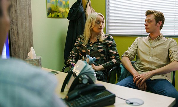 Picture shows Katie McGlynn as Coronation Street's Sinead Tinker. Her cervical cancer storyline sparked an uptake in cervical screening.