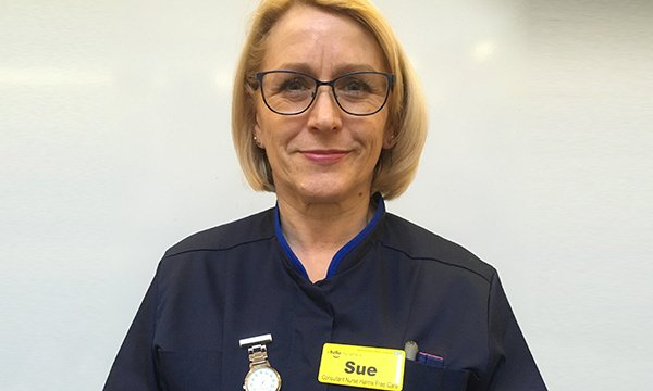 Sue Harris, the UK's first consultant nurse in harms-free care