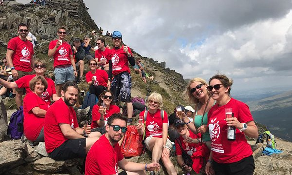 Sugar Buddies members climbed Snowdon in Wales in 2018