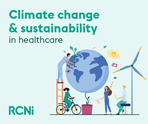 rcni.com - climate change and sustainability in healthcare
