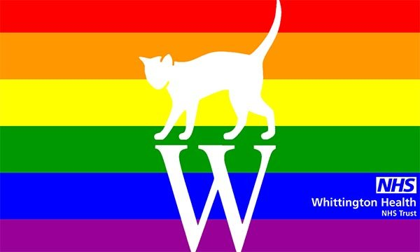 Whittington Health's rainbow logo for Pride