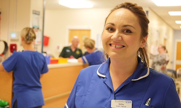 Vicky Hall working in the emergency department