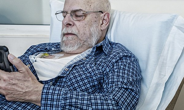 Picture of a worried patient with cancer