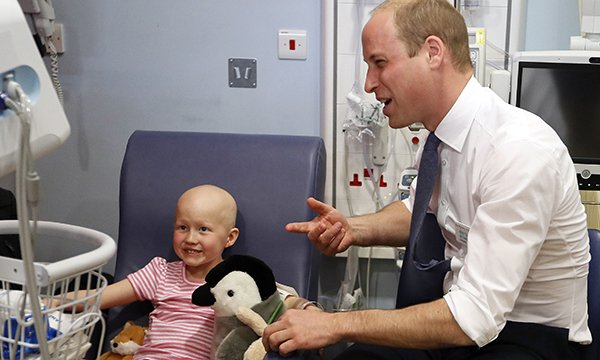 Prince William with patient