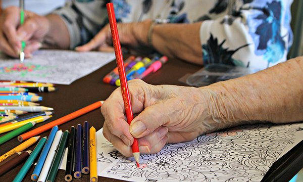 Art therapy for older patients